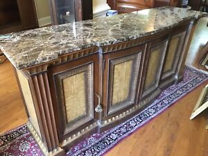 """Ferguson Copeland Marble Top Buffet or Credenza 81""""Lx21""""Wx36.5""""H"""