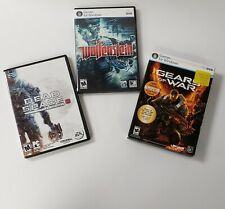 PC 3 games lot Wolfenstein (PC,09) Gears of War (PC,07)  Dead Space 3 le (PC,13)