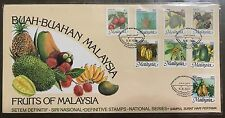 Malaysia cover - 1986 Fruits High value stamp set on FDC