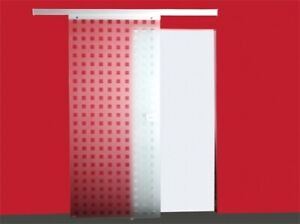 JOMOWO Glasschiebetür Design Matico inkl. Aluminiumbeschlag 2080 x 900mm