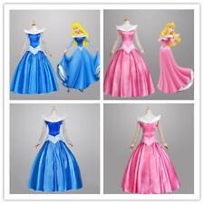 The Sleeping Beauty Aurora Princess Dress Halloween Costume Cosplay Women Adult
