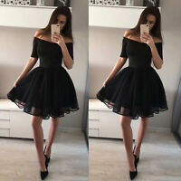 Womens One Shoulder Dress Evening Party Formal Homecoming Sexy Prom Short Dress