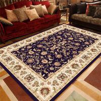 Traditional Medallion Area Rug Oriental Carpet Home Dining Room Velvet Floor Mat
