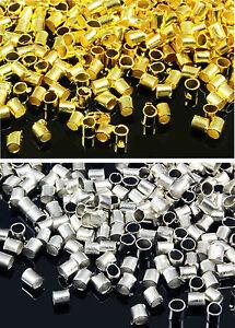 Quetschröhrchen 1,5 / 2 mm Quetschperlen 100/500 Stk. Perlen Metallperlen, S34