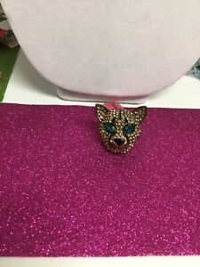 Betsey Johnson  Gorgeous Panther Jungle Ring Size 8 Just Stunning NWT