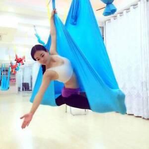 UK Yoga Swing Hammock Trapeze Sling Aerial Silks Anti-gravity Inversion Kit  UK