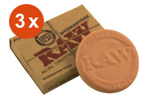 RAW Hydrostone 3 x Tabakbefeuchter aus natürlichem Ton   Humidifier Terracotta