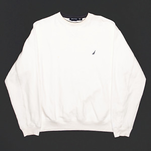 NAUTICA Cream Regular Sweatshirt Mens M