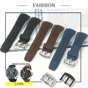 26mm Rubber Silicone Watchband Strap Fit For Seiko VELATURA/SRH SCPC077 CPC077