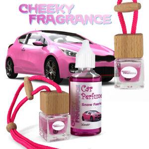 Car Perfume Hanging Bottle Car Freshener by Cheeky Fragrance, PINK + 30ml Refill