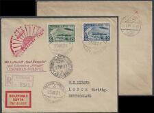 Russia 1932 Zeppelin Zepp Cover C27,C29 >MALYGIN ARTIQUE>Germany H.E.SIEGER