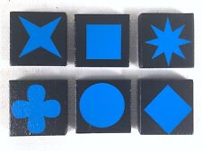 QWIRKLE Lot of 6 BLUE TILES  Game Pieces Replacement Parts 2010 MindWare