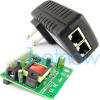 Gigabit Raspberry Pi 4 4B 3B+ 3B Plus 5V 12V Dual Output PoE Kit (HAT+ Injector)