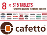 8x Coffee Machine S15 Cafetto Cleaning Tablets (Breville, Sunbeam, Expresso)