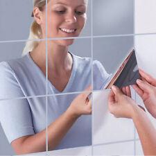 Creative Box Mirror 16 pcs Wall Stickers Bathroom Home Decor Acrylic Mirrored