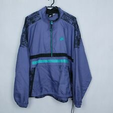 92547ca544 NIKE Vintage Mens Purple Anorak Designers Retro Tracksuit Top Jacket SIZE XL