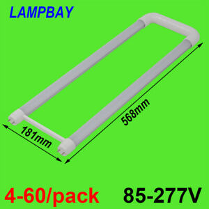 LED Tube Light U shaped 2ft 20W U Bend Retrofit Bulb fluorescent lamp 110V-277V