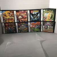Nintendo DS Mario & Lego lot (8) - cases and  manuals ONLY, no games