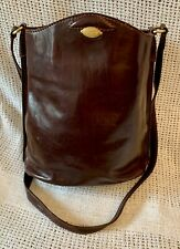 Classic *THE BRIDGE* Brown Leather Bucket Tote Cross Body Shoulder Bag