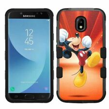 for Samsung Galaxy J7 Crown Hybrid Hard Impact Case Mickey Mouse #Y