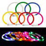 USB Rechargeable LED Flashing Light Band Glow Belt Pet Dog Puppy Collar Great DT