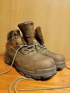 Wolverine Epx W10314 Brown Leather Steel Toe Work Boots Men's US Size 11.5 M