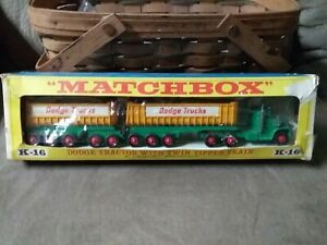 Matchbox King Size K-16 Dodge Tractor With Twin Tipper Train In Box
