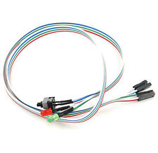 ATX PC Desktop Case Power On Off Reset Switch Cable with 2 x LED Lights 65cm