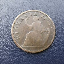 """More details for 1723 irish american george 1st """"woods"""" copper halfpenny or cent"""
