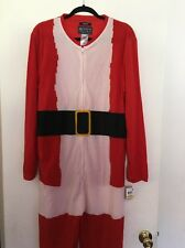 American Raw Santa  One Piece Adult Men Pajama Size M Polyester