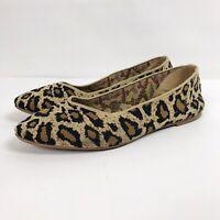 Skechers Womens Cleo Flats Size 9.5 Leopard Slip On Pointed Toe Memory Foam