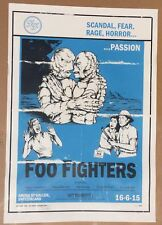 Foo Fighters Arena St. Gallen Switzerland Poster Signed Numbered Sep R