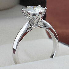 925 Sterling Silver Excellent Round 1.50 Ct Moissanite Solitaire Engagement Ring