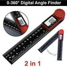 2-in-1 0-200mm Digital Angle Finder Meter Folding Ruler Measurer 360° Protractor