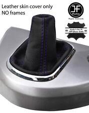 Costura de grano superior de cuero púrpura Gear Polaina se ajusta Mitsubishi Grandis 2004-2011