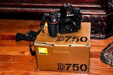 Nikon Usa D750 24.3 Mp Digital Slr Camera - Black (Body Only) in box w/ cables