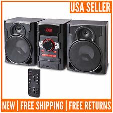 100W Home Audio Stereo System Bluetooth Cd Usb Bookshelf Compact Shelf Stereos