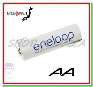 "batteria ricaricabile 1,2v a saldare Eneloop pila stilo AA 1900mAh lamelle ""Z"""