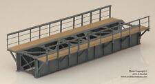 BRASS PBA 1001-5 39ft PLATE GIRDER DECK BRIDGE 1-TRACK w/2 WALKWAYS F/P GRAY