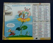 Calendrier almanach PTT facteur . Asterix et obélix 2013