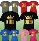 King and Queen Couple Shirt Matching Couple Clothes T-Shirts His Hers  T-Shirts