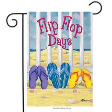 "Flip Flop Days Summer Garden Flag Nautical Beach 12.5"" x 18"" Rain or Shine"