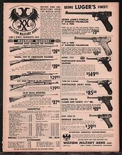 """1964 LUGER 6"""" 8"""" Parabellum, Portugese Mauser & Army  Western Military Arms AD"""