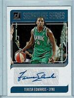 TERESA EDWARDS 2019 Panini Donruss WNBA Auto Card - *Please Read Promo Below!