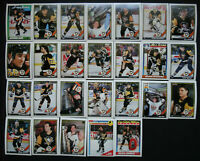 1991-92 O-Pee-Chee OPC Pittsburgh Penguins Team Set of 26 Hockey Cards