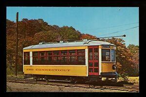 Train Railroad postcard Trolley Branford Museum East Haven, Connecticut CT