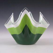 Chance Brothers Green Glass 'Duet' Handkerchief Vase #2