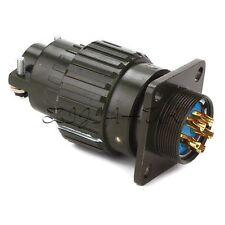Black Aluminum Y2M-5TK 5Pin Circular Female&Male Connector 31x62mm/1.22x2.44inch