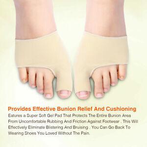 Pair FootTrek Fabric or Gel Toe Bunion Protector Straightener Corrector Pads UK