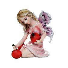 3' Miniature Holding Cherry Fairy Figurine - New - Free Shipping